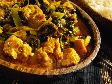 Пиле със спанак и кисело мляко по пенджабски - снимка на рецептата